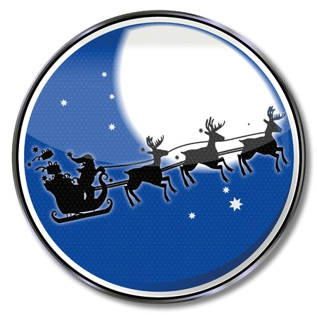 Button Santa Claus in the moonlight photo