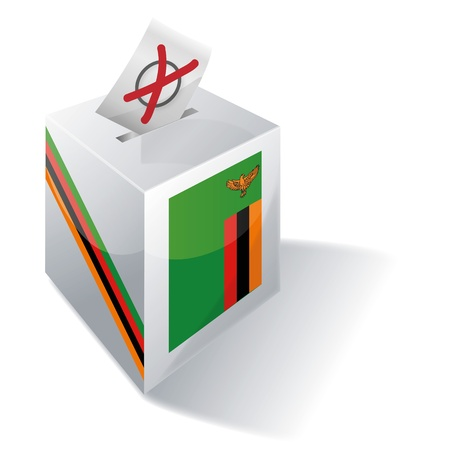 Ballot box Zambia Stock Photo - 15993216