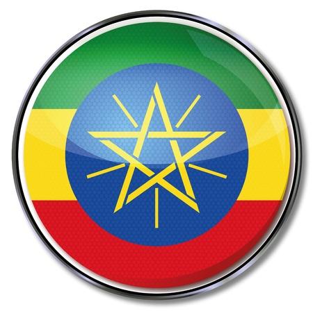 ethiopia: Button Ethiopia Illustration