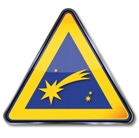 Sign Christmas comet Stock Vector - 16219467