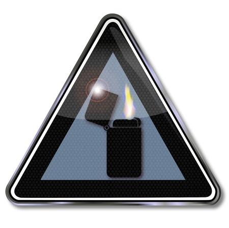 Sign dark lighter Stock Vector - 16219478