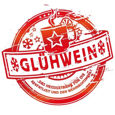 kerst markt: Stempel glühwein