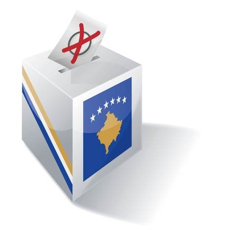 Ballot box Kosovo Stock Vector - 16219504