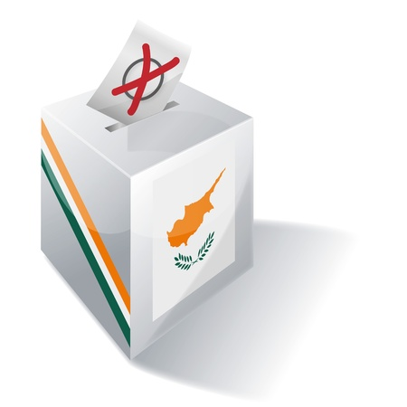 kypros: Ballot box Cyprus Illustration