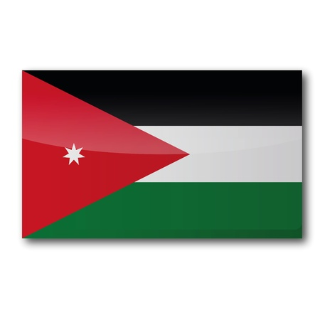 jordan: Flag Jordan Illustration