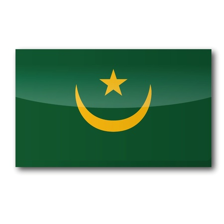 northwestern: Flag Mauritania