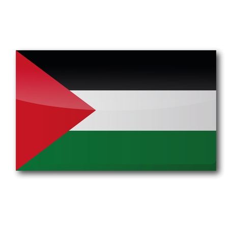 southwest asia: Flag Palestine Illustration