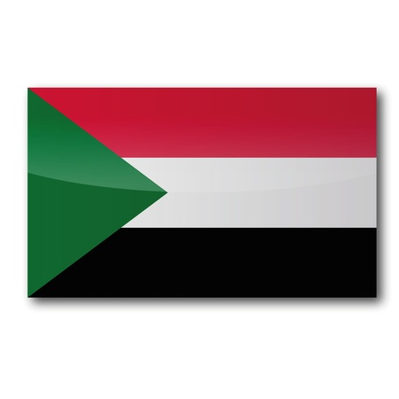 sudan: Flag Sudan Illustration