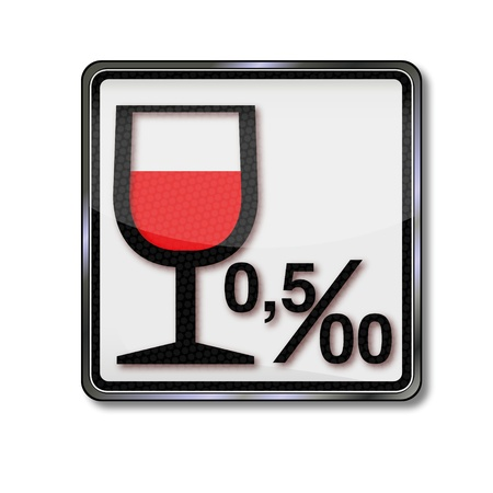 Sign Alcohol limit and alcohol, Vector