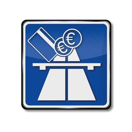 Traffic Sign motorway tolls