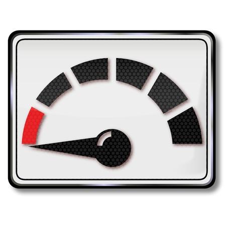 Sign Fuel gauge, zero and empty Stock Vector - 16327373