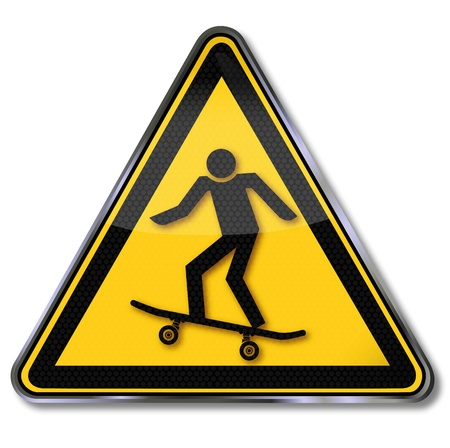 rotations: Sign skateboard and fun