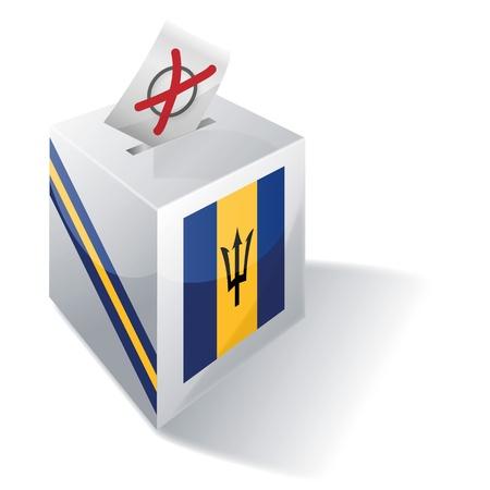 absentee: Ballot box Barbados
