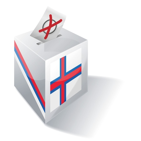 Ballot box Faroe Islands Stock Vector - 16331300