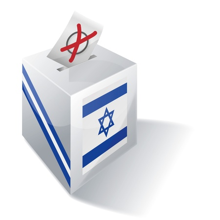 Ballot box Israel Vector