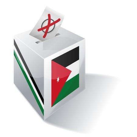 absentee voting: Ballot box Jordan