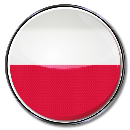 Button Poland Vector