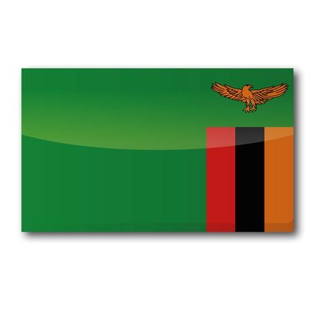 landlocked country: Bandera de Zambia