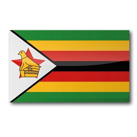 simbabwe: Flagge Simbabwe