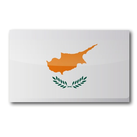 kypros: Flag Cyprus Illustration