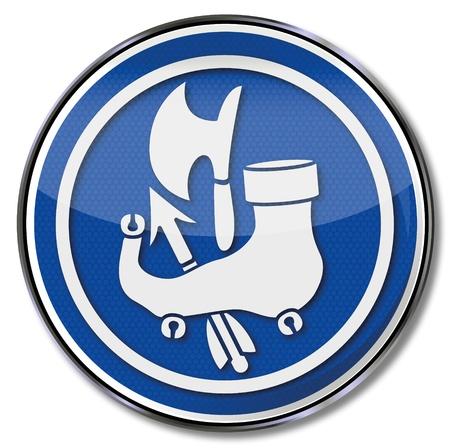 vocational: Guild sign shoemaker Illustration