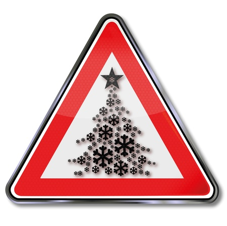 Sign Christmas tree and stars Stock Vector - 16433857