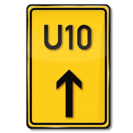 redirection: Traffic Sign detour
