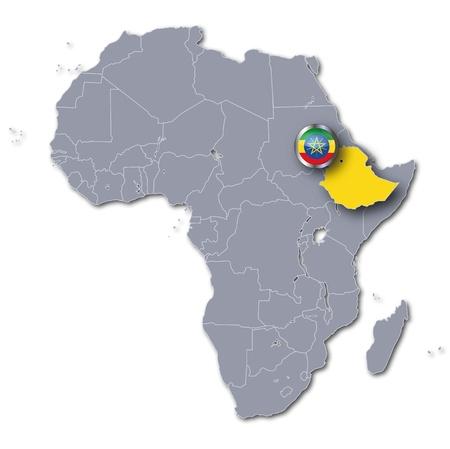 east africa: Africa map Ethiopia