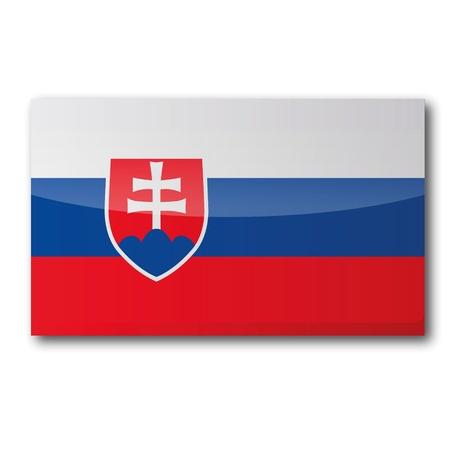 landlocked country: Bandera de Eslovaquia Vectores