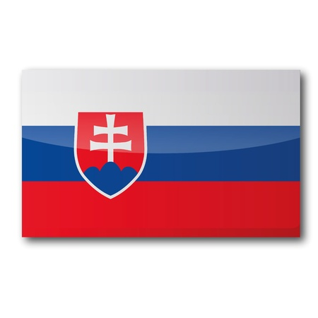 landlocked: Flag Slovakia