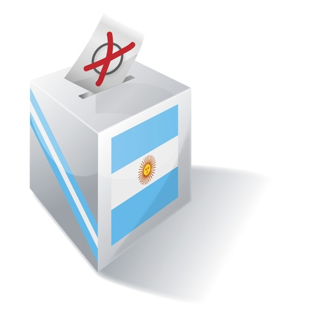 voters: Ballot box Argentina Illustration