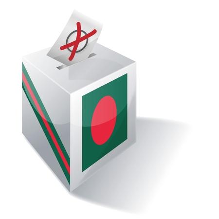 absentee voting: Ballot box Bangladesh