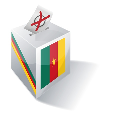Ballot box Cameroon Stock Vector - 16547962
