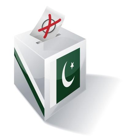 Ballot box Pakistan Stock Vector - 16547964