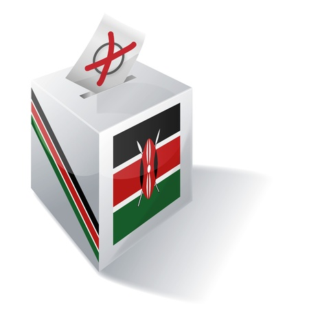 Ballot box Kenya Vector