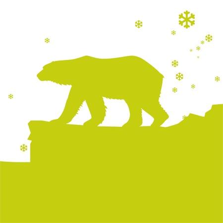 polar environment: Polar Bear Illustration