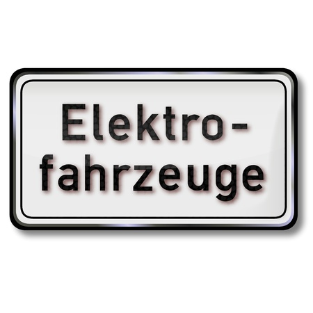 Traffic Sign Electric vehicles Stock Vector - 16665283