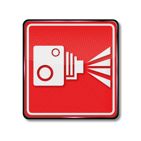 Sign old film camera Stock Vector - 16665279