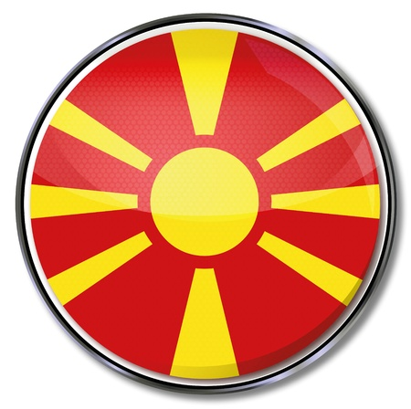 landlocked country: Bot�n de Macedonia Vectores
