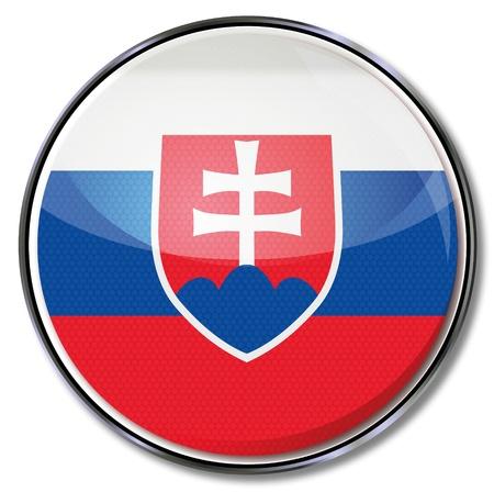 slovakia flag: Button Slovakia