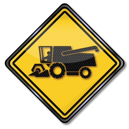 agricultural machinery: Sign combines Illustration