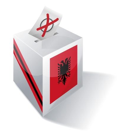 투표 용지 상자 알바니아 일러스트