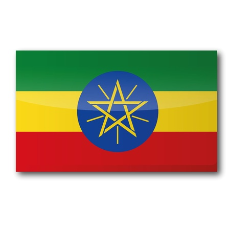 landlocked country: Bandera de Etiop�a Vectores