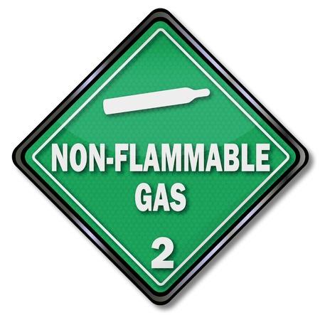 hazardous materials: Sign non flammable gas