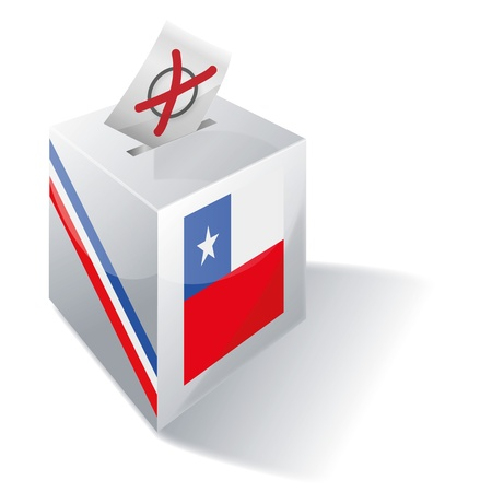 Ballot box Chile Stock Vector - 16908443