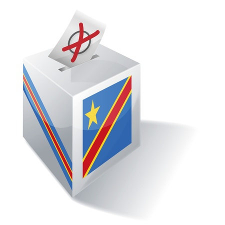 Ballot box Democratic Republic Congo Vector