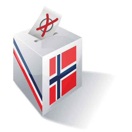 absentee voting: Ballot box Norway Illustration