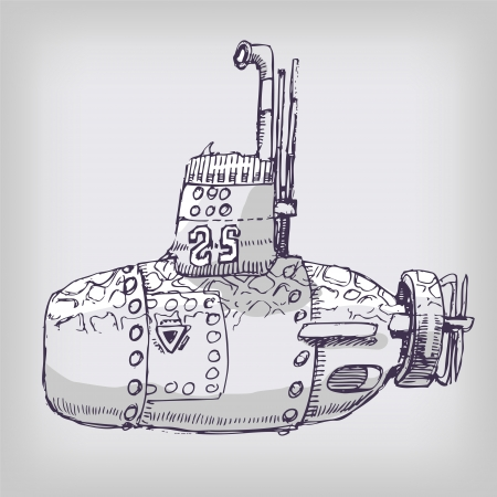 Little Submarine Vector