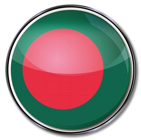 Button Bangladesh Stock Vector - 17186608