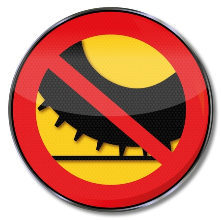 Traffic Sign No spikes on car tires Stock Vector - 17186605